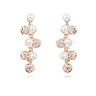 Austria Pearl Gold Plated Alloy Earrings (More Colors)