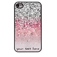 gepersonaliseerde telefoon geval - glinsterende poeder ontwerp metalen behuizing voor de iPhone 4 / 4s