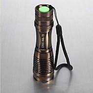 Lights LED Flashlights/Torch / Handheld Flashlights/Torch LED 1800 Lumens 5 Mode Cree XM-L T6 18650 / AAAAdjustable Focus / Waterproof /