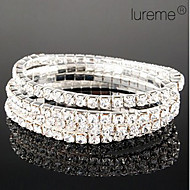 Lureme Simple Row Crystals elastisk armbånd