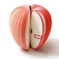 lindo fruta novedad niños manzana roja papel libreta del cojín de nota regalo de los niños de retorno del banquete de boda regalo de cumpleaños