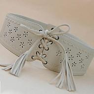 kvinders vintage hule ud binde den bagerste spænde brede læderbælter