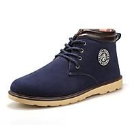 Men's Shoes Casual Faux Leather Boots Black/Blue/Brown