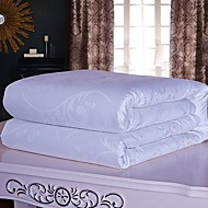 SenSleep® Silk Quilt Floral Pattern Pure White Keep Warm Thickening Jacquard Quilt