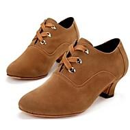baixos calcanhar sapatos de camurça lace-ups de dança das mulheres modernas (mais cores)