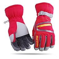 unisexe fashional thermique étanche à l'eau&des gants de ski coupe-vent rouge