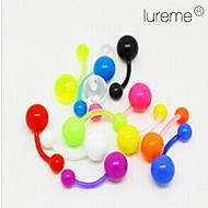 lureme®colorful akrilik göbek / kulak deldirme (rastgele renk)