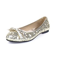 Women's Spring / Summer / Fall Round Toe Glitter Wedding Flat Heel Bowknot / Sequin Red / Silver / Gold