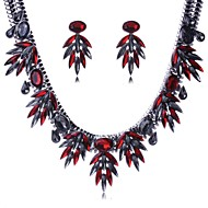 Women's Fashion Crystal Jewelry Sets Including Necklace&Earring(More Colors)