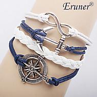 eruner® ženske višeslojni legure sidro beskonačne čari ručne izrade kožne narukvice