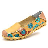 Damen-Loafers & Slip-Ons-Lässig-Leder-Flacher Absatz-Komfort-
