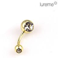 lureme®gold forgyldt rustfrit stål navle / øre piercing