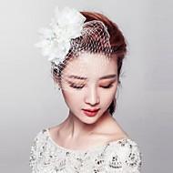 Fleurs/Voile de cage à oiseaux Casque Mariage/Occasion spéciale/Outdoor Alliage/Imitation de perle/Tissu/Net FemmeMariage/Occasion