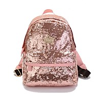 PU Leather Casual Backpacks With Sequin (More Colors)