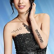 Tatuajes Adhesivos - Modelo/Waterproof - Otros - Mujer/Girl/Adulto/Juventud - Negro - Papel - #(5) - #(20.5CM*10CM)