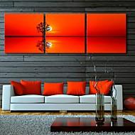 e-HOME lona envuelta arte de la reflexión del conjunto de pintura árboles decoración de 3
