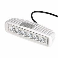 "kawell 18W 6.2 ""LED for atv / båt / SUV / lastebil / bil / ATV lys av veien vanntett LED arbeidet spot lys bar"