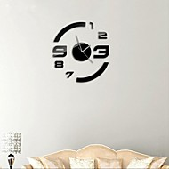 """21 """"ч современный стиль DIY 3D зеркало акриловые поверхность наклейка настенные часы для спальни гостиной"""