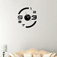 "21 ""h moderne stijl diy 3d spiegel acryl oppervlak sticker muur klokken voor slaapkamer woonkamer"