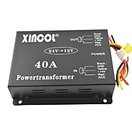 xincol® vozila auto DC 24V do 12V 40a napajanja transformatora pretvarač s ventilatora-crna