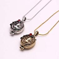 Fashion The Vampire Diaries Elena Alloy Movie Pendant Necklace(Golden,Silver)(1 Pc)