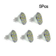 4w gu4 (mr11) led spot 12 smd 5730 450 lm sıcak beyaz / doğal beyaz dc 12 v 5 parça