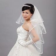 Wedding Veil Four-tier Veils for Short Hair 31.5 in (80cm) Tulle Ivory