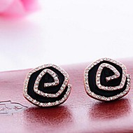 Stud Earrings Men's/Women's Alloy Earring Rhinestone