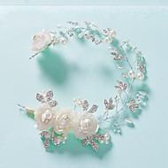 Fleurs/Chapeau Casque Mariage Perle/Strass/Alliage Femme Mariage