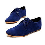 -Для мужчин-Повседневный-Искусственная замша-На плоской подошве-Удобная обувь-Туфли на шнуровке