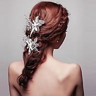Damen/Blumenmädchen Kopfschmuck Hochzeit/Besondere Anlässe/Freizeit/im Freien Haarklammer Kristall/Legierung/Künstliche Perle/Stoff