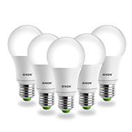 5 pcs E26/E27 5 W COB 400-450 LM Warm White G60 LED Filament Lamps AC 100-240 V