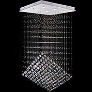 9 조명 현대 실버 광장 canpoy 투명 K9 크리스탈 거실기구를 LED 조명 크리스탈 샹들리에