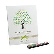 """""""Nasze drzewa ślub"""" księgę gości podpis odcisków palców z 5 kolorów inkpad"""