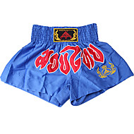 kickboksen professionele borduren shorts blue & red (gemiddelde grootte)