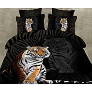 quatre pièces 3d imprimé tigre couette