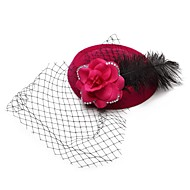 Women's Feather/Basketwork/Flannelette Headpiece - Wedding/Outdoor Hats