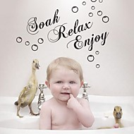 Bathroom Sticker Wall Stickers Wall Decals,  Soak Relax Enjoy Bathroom Sticker