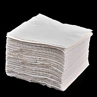 100 Papier Carré / Rectangulaire Serviettes