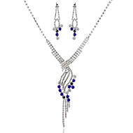Gender Ladies'/Women's Alloy Wedding/Party Jewelry Set With MulticolorRhinestone
