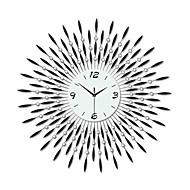 modern large size round iron wall clock