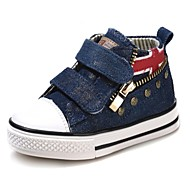 Boy's Girl's Sneakers Spring Summer Fall Comfort First Walkers Canvas Cotton Outdoor Athletic Casual Flat HeelRivet Zipper Magic Tape