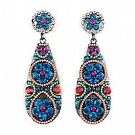 YUAN Fashion Casual High Quality Waterdrop Rhinestone Earrings