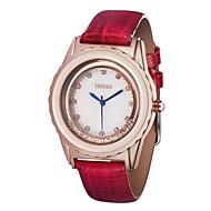 TIME100 Luxury Lady Genuine Leather Strap Rhinestone Water Resistant Women Diamond Quartz Dress Watch(Assorted Colors)