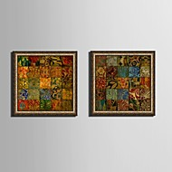 Fantasy Framed Canvas / Framed Set Wall Art,PVC Golden No Mat With Frame Wall Art