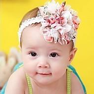 Mädchen schnüren sich Blumen Chiffon- Stirnband