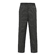rayures noires élastiques pantalons de chef