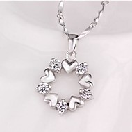 Ladies'/Women's Sterling Silver Necklace Gift/Daily/Special Occasion/Outdoor Cubic Zirconia