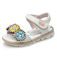 Girl's Sandals Summer Open Toe / Comfort / Slingback Leather Outdoor / Casual / Athletic Flat Heel Flower / Magic Tape / Hook & LoopPink