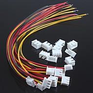xh2.54-3p enkele kop draad met draad terminals (10st)